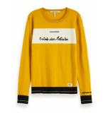 Scotch & Soda 153168 55 basic crewneck pullover geel