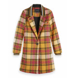 Scotch & Soda 152692 61 bonded checked coat with rib details combo g