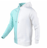 Catch Heren trui capuchon sweat stretch mint groen wit