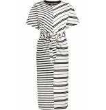 Noisy may Nmleo ss dress bg 27008061 bright white/black stripes wit