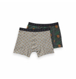 Scotch & Soda All-over printed grey boxer