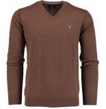 Gant Wool v-neck 83102/294 bruin