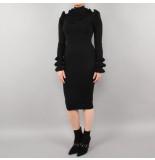Reinders Marie ruffe dress zwart