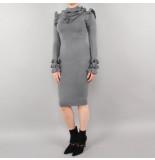 Reinders Marie ruffle dress grijs