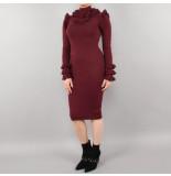 Reinders Marie ruffe dress rood