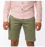 Cast Iron Csh194106 674 chino short summer satin army green groen