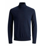 Jack & Jones Eemil knit roll neck pullover blauw