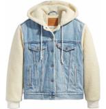 Levi's Exbf sherpa trucker jacket blue &teddy denim