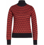 King Louie Rollneck top fiddle b.red rood