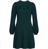King Louie Polly dress woven crepe pine green groen