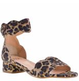 Gosh Sandalen met hak leopard beige