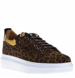 Linkkens Sneakers bruin