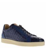 Giorgio Sneakers crocoprint blauw
