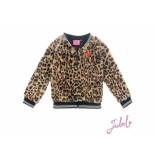 Jubel Teddy vest leopard lipstick khaki beige