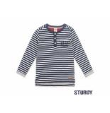 Sturdy Sweater streep good fellows navy blauw