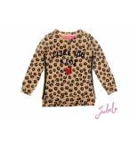 Jubel Sweater aop leopard lipstick khaki beige