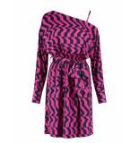 Fifth House Rara shoulder dress - fuchsia