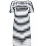 Pieces Pcingrid ss dress noos 17089195 bright white/maritime blue wit