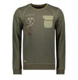 PME Legend Long sleeve sweater pts195554 6153 groen