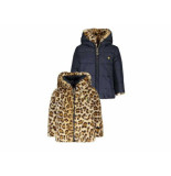 Like Flo Winterjas reversible navy blauw