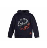 Skurk Hooded sweater swift navy blauw