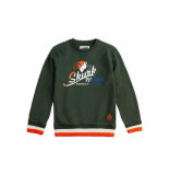 Skurk Sweater scottstown leger groen