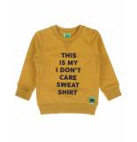 Funky XS Sweatshirt bss2 text sweat geel
