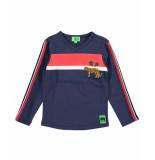 Funky XS T-shirt bss2 block tee blauw