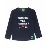 Funky XS T-shirt bss2 sushi tee blauw