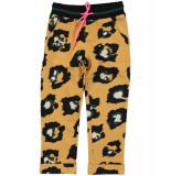 Funky XS Broek gl leopard pants geel
