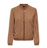 Only Onlnova lux bomber jacket aop 6 wvn 151939 ginger bread/pretty dot bruin