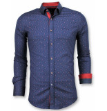 Gentile Bellini Italiaanse overhemd blauw