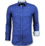 Gentile Bellini Getailleerde overhemden mannen blauw