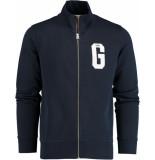 Gant Graphic zip-through sweat 2048042/433 blauw