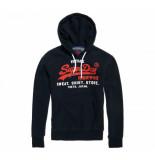 Superdry Sweat shirt shop duo hood navy