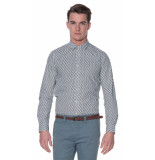 Scotch & Soda Casual overhemd met lange mouwen wit