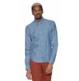 Scotch & Soda Casual overhemd met lange mouwen blauw
