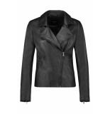IBANA Leren jacket 301930060 waves black zwart