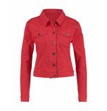 Studio Anneloes 02901 isabel coloured jeans jacket rood