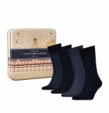 Tommy Hilfiger 4-pack sokken blauw