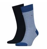 Tommy Hilfiger 2-pack sokken blauw
