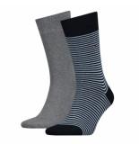 Tommy Hilfiger 2-pack sokken 832 blauw & grijs