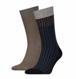 Tommy Hilfiger 2-pack sokken 150 bruin & blauw