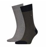 Tommy Hilfiger 2-pack sokken grijs & olijf 150 groen