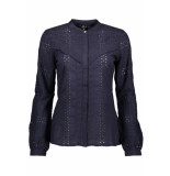 Only Onlmiriam ls emb anglaise blouse dn 15169835 night sky blauw