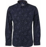 Noize Shirt, l/s, all over printed blauw