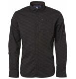Noize Shirt, l/s, all over printed tonal grijs