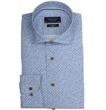 Profuomo Ppqh3a1068 business overhemden met lange mouwen 100% katoen blauw