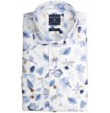 Profuomo Ppqh3a1064 business overhemden met lange mouwen 100% katoen blauw