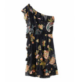 Liu Jo One-shoulder jurk liu-jo zwart